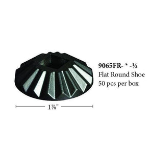 "9065-FR-1/2 Scalloped Round Flat Iron Shoe for 1/2"" Square Baluster-Iron Shoes & Knuckles-Amish Craft by StepUP Stair Parts"