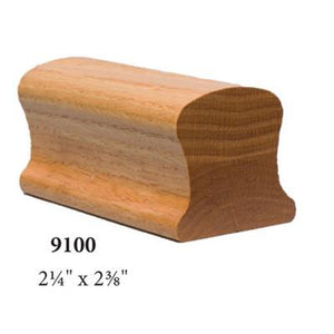 Wood Railings | Banister | 9100B Solid Bending Handrail-Handrails & Handrail Fittings-Amish Craft by StepUP Stair Parts