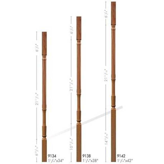 Baluster Spindle | Wood Railings | USA Crafted 9134 Square Top Baluster
