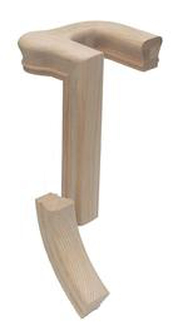 7092-2 Right Hand 2 Rise 180 Turn Gooseneck with Cap Handrail Fitting  | Amish Wood Railings | Banister