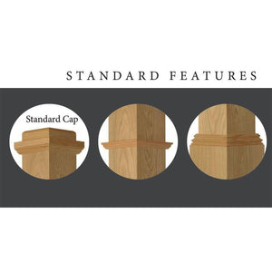 Newel Post | Railings | USA Crafted | F-4375 Box Newel-Box Newels-Amish Craft by StepUP Stair Parts