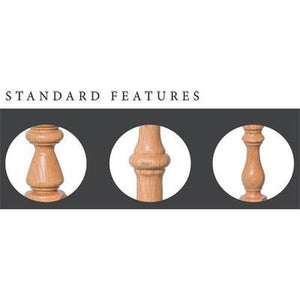 Newel Post | Railings | USA Crafted | Ohio Standard Features for 4842 Starting Newel-Turned Newels & Balusters-Amish Craft by StepUP Stair Parts