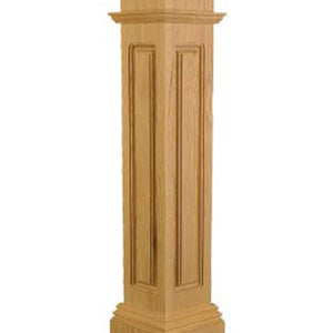 Newel Post | Railings | USA Crafted | FP-4375 Box Newel CNC-Box Newels-Amish Craft by StepUP Stair Parts