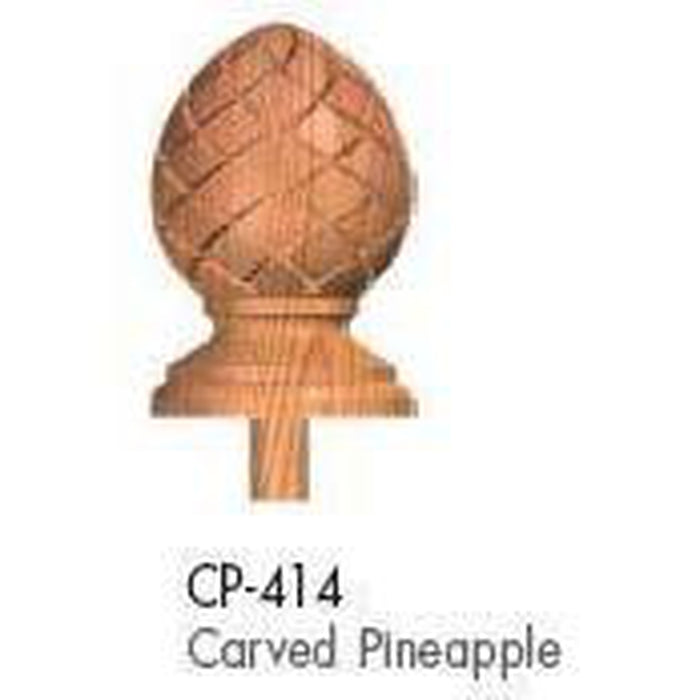Wood Railings | Banister | CP414 Carved Pineapple Finial