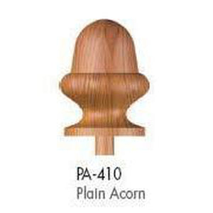 Wood Railings | Banister | PA-410 Plain Acorn Finial-Turned Newels & Balusters-Amish Craft by StepUP Stair Parts