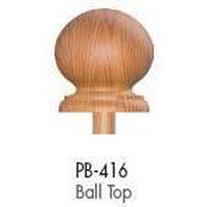 Wood Railings | Banister | PB-416 Ball Top Finial-Turned Newels & Balusters-Amish Craft by StepUP Stair Parts