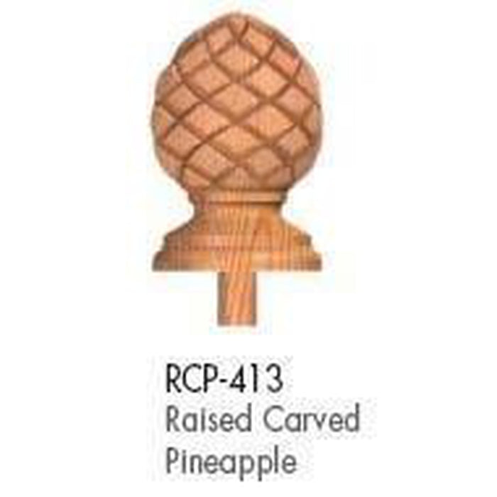 Wood Railings | Banister | RCP-413 Raised Carved Pineapple Finial