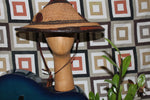African straw/ leather hat
