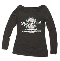 NanaHood Women's Long Sleeve Scoop Tee (Charcoal)