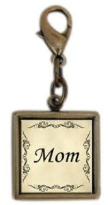 Single Square Mom Charm