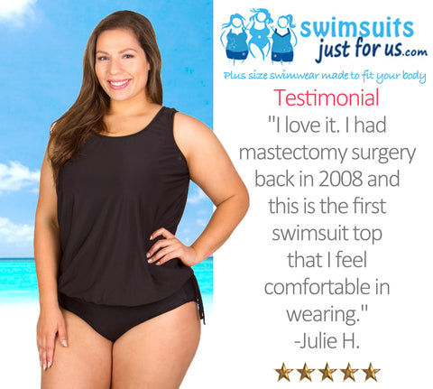 clear and distinctive official price classic styles Testimonials on our Mastectomy Plus Size Swimsuit ...