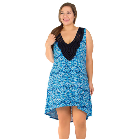 Tie Dye Twist Women's Plus Size Cover-Up from Dotti