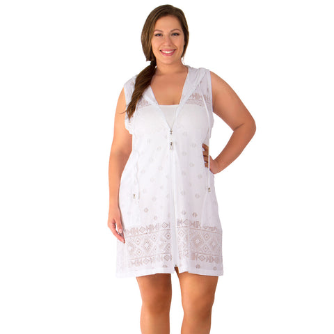 Tribal Times Women's Plus Size Cover-Up from Dotti - Available in WHITE and BLACK