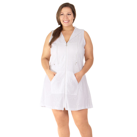 Paradise Palm Women's Plus Size Cover-Up from Dotti