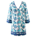 25% Off - Plus Size Cover-Ups - Paradise Plus Size Tunic - Cover-up - Peppermint Bay-SwimsuitsJustForUs.com, Plus Size Women's Swimwear, Plus Size Ladies Swimwear, Plus Size Bathing Suits, Plus Size Tankini Swimsuits, Plus Size Swim Tops,