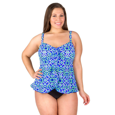 50% OFF Fancy Flight Ruffle Bottom Swimsuit Top