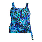 Plus Size Blouson Swimsuit Top - Caribbean Play - Swim Separates - Penbrooke Beach-SwimsuitsJustForUs.com - 3