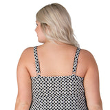 Cute plus size swimwear back view