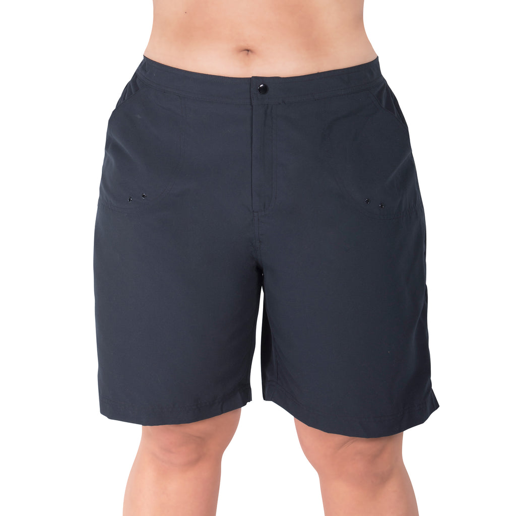 Women's plus size long board shorts swimwear | SwimsuitsJustForUs.com