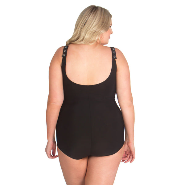 Front Skirted One Piece Mastectomy Swimsuit W Prosthesis