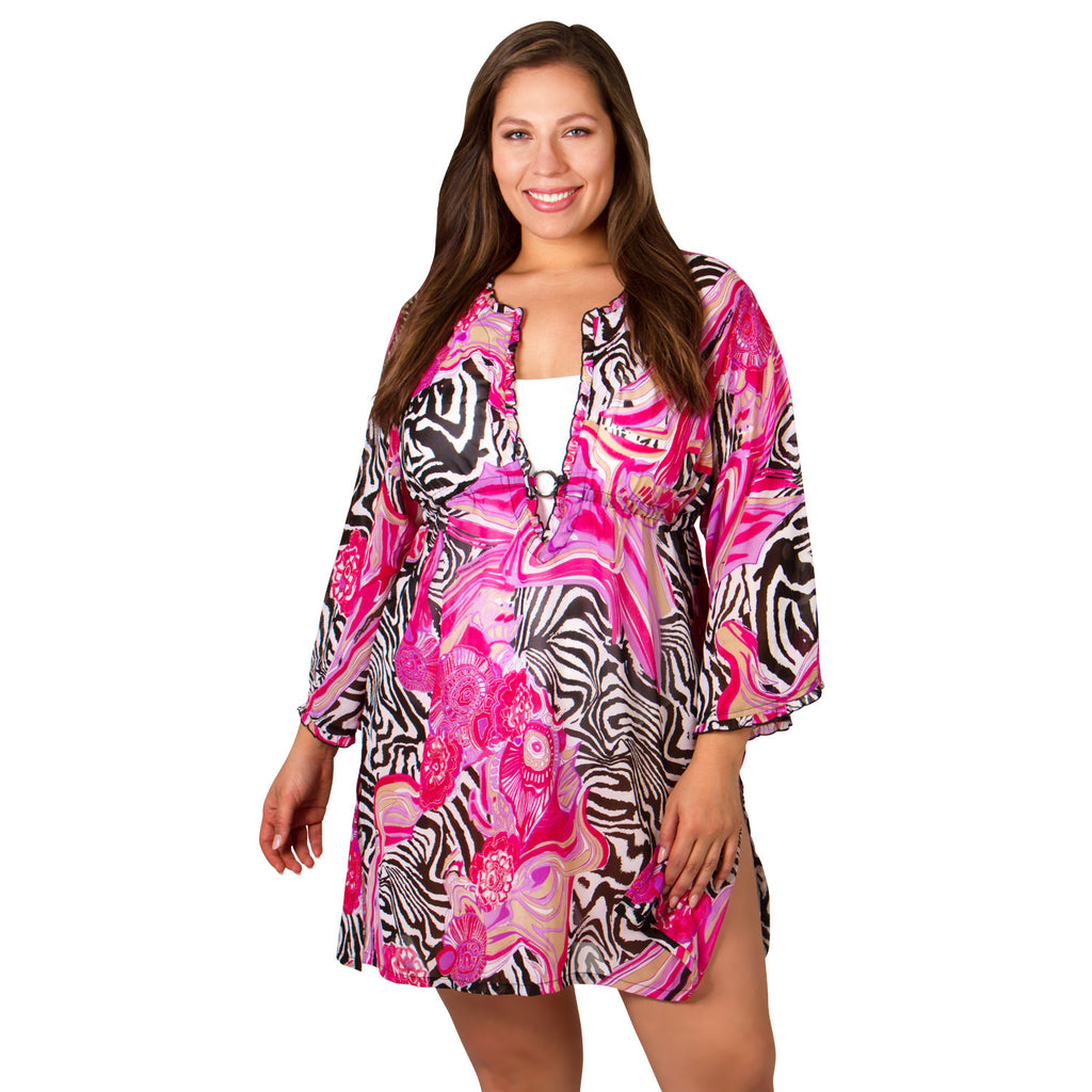 Plus Size Cover-Ups - Abstract by Peppermint Bay - Cover-up - Peppermint Bay-SwimsuitsJustForUs.com