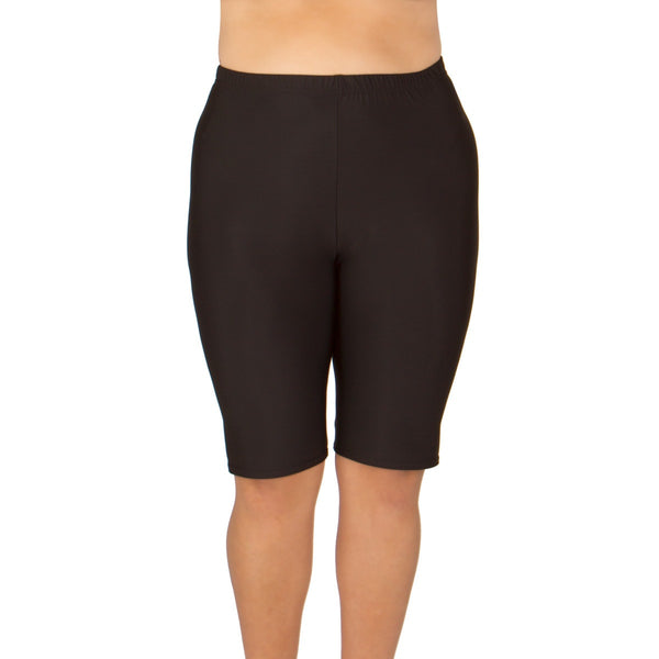 5f2937afef MADE IN USA-Women's Plus Size Long Swim Shorts - Available in 2 COLORS