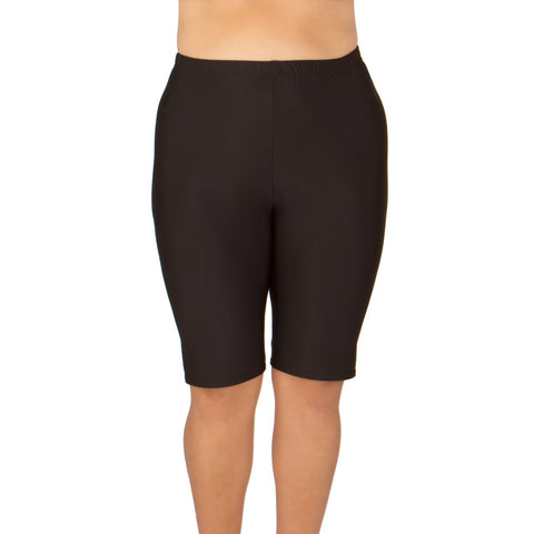 MADE IN USA-Women's Plus Size Long Swim Shorts - Available in 2 COLORS - Back in Stock June 8th