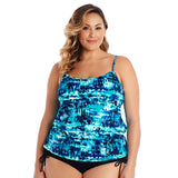Caribbean Joe Plus Size Swimsuit with Underwire - Magical Mystery Blouson
