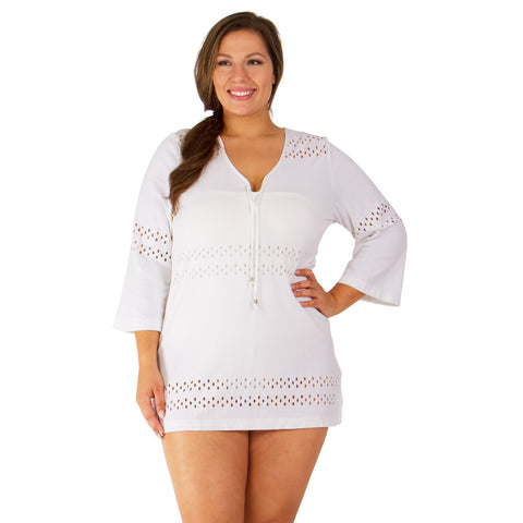 50% OFF - Plus Size Swim Cover-Up - Available in Black or White
