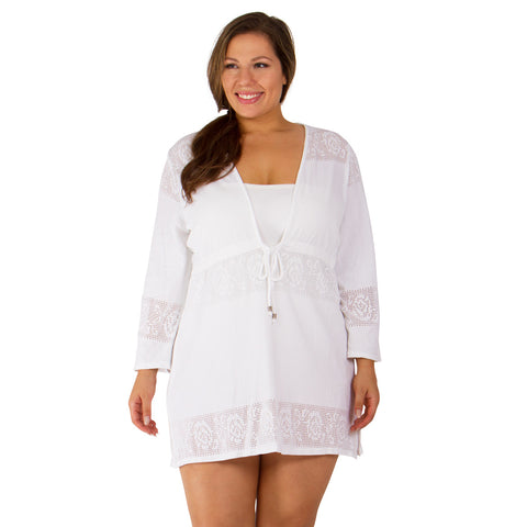 Engineered Lace Plus Size Cover-Up from Dotti