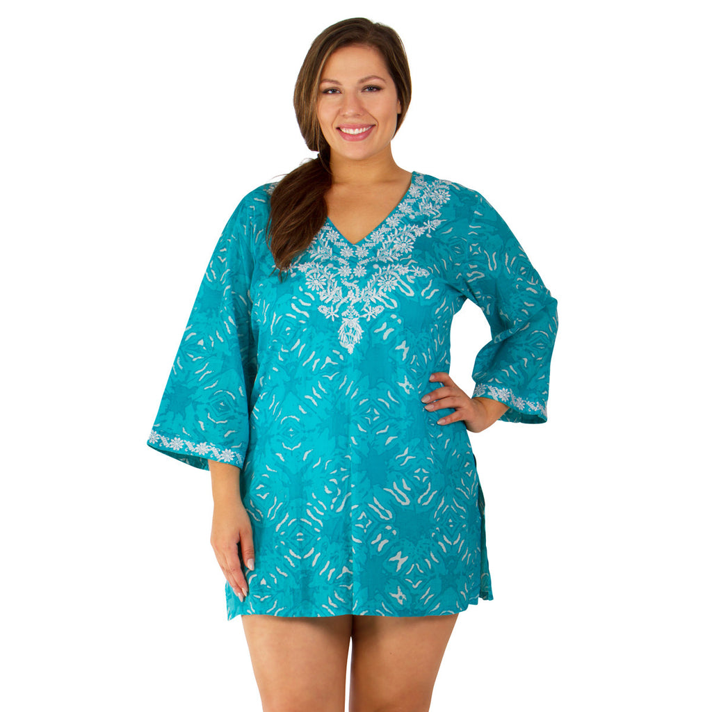 Women's Plus Size Cover-up from Peppermint Bay - Tranquility Tunic - Cover-up - Peppermint Bay-SwimsuitsJustForUs.com