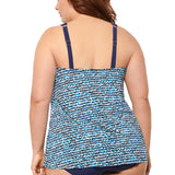 Plus Size Tankini Top at SwimsuitsJustForUs.com - From Christina Back View