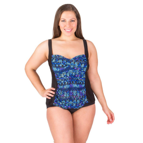 Delta Burke  Swim Top -Twist Front