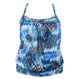 Fit 4U Racer Back Plus Size Swim Top - Scattered Elements