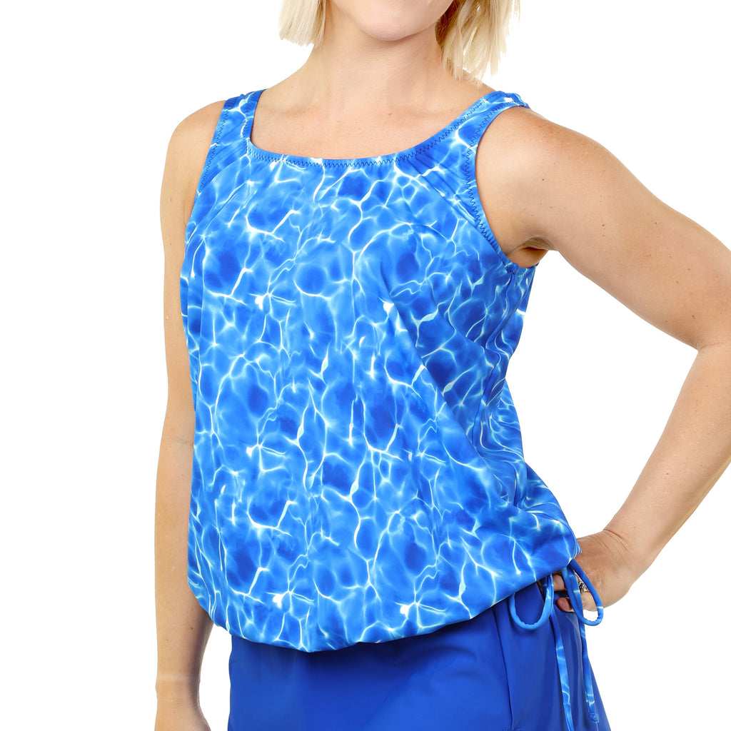 Women's Long Swimwear Top by Topanga  -  Poolscape