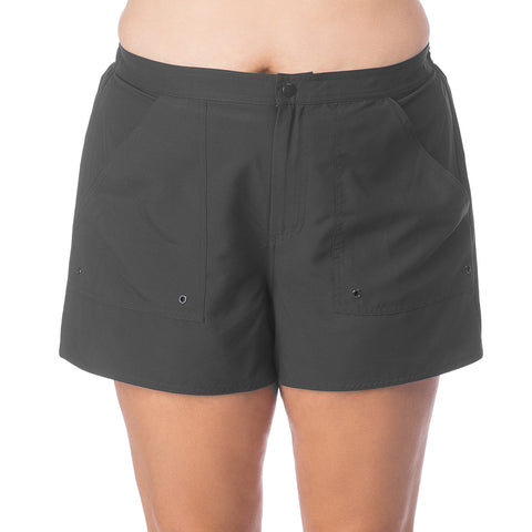 Plus Size Board Shorts with Built in Panty
