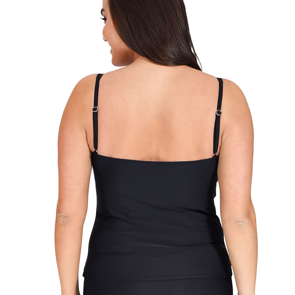 83ad69364dc Mazu Women's Swimsuit Top - Plus Sizes 18 - 24 -Le Jardin - Back View
