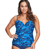 Mazu Underwire Swim Top at Swimsuits Just For Us -Blue-Front View
