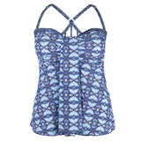 Mazu Long Plus Size Swim Top at Swimsuits Just For Us -Front View
