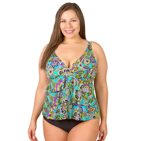 Ruffle Triple Tier Swimsuit Top - Gypsy