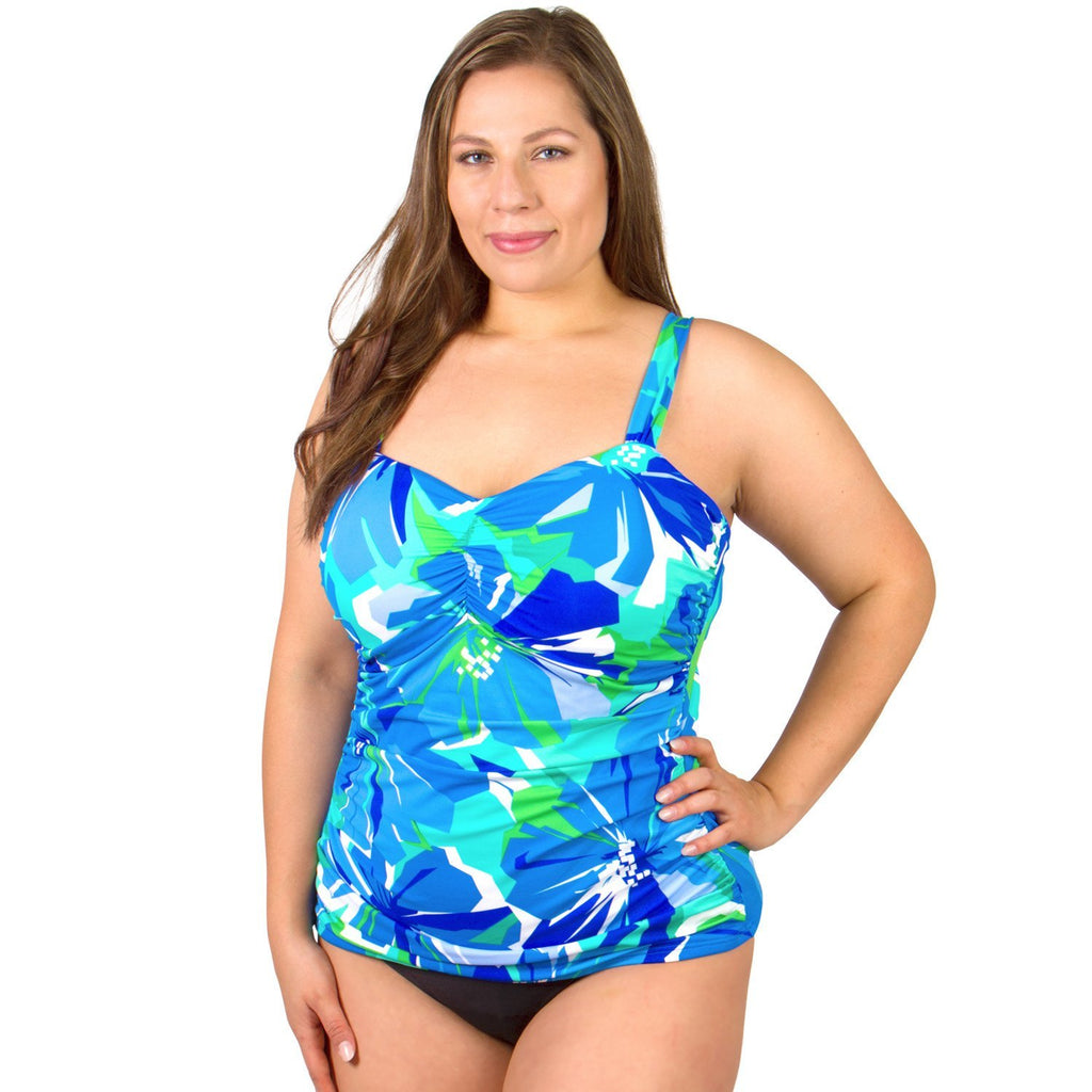 Underwire Shirred Side Swimsuit Top - Garden of Oz - Swim Separates - Penbrooke Beach-SwimsuitsJustForUs.com - 1