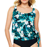 Penbrooke-Swimsuit-550965X_Blouson-Swimsuit-Top | SwimsuitsJustForUs.com | Plus Size Swimwear| Front View