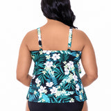 Penbrooke-Swimsuit-5530913X_Triple-Tier-Swimsuit-Top | SwimsuitsJustForUs.com | Plus Size Swimwear| Back View