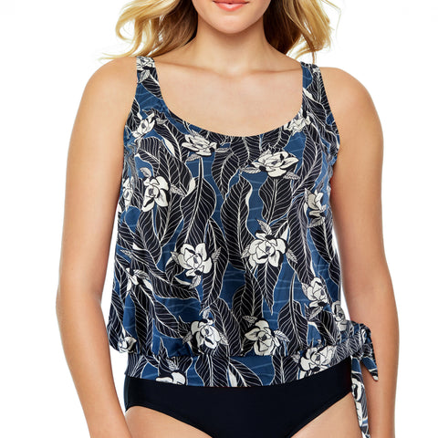 Built in Bra Back Swimsuit Top, Blouson Style - Cape Cod