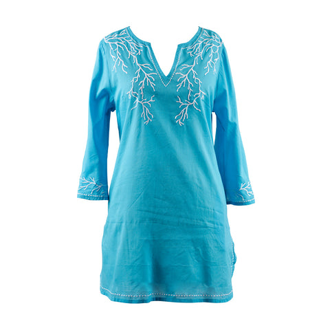 Plus Size Swim Cover Up From Peppermint Bay -Turquoise