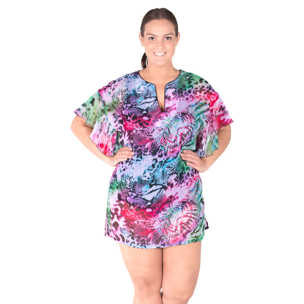Plus Size Cover-up - Pool Party - SwimsuitsJustForUs.com