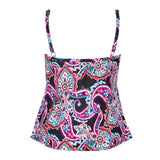 Paisley plus size swimtop and bathing suit top -Back