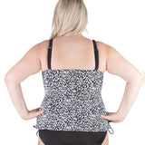 Plus Size Tankini Swimsuit by Caribbean Joe -Back View