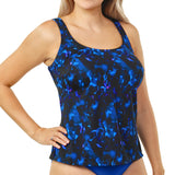 T.H.E. Swimwear - Full Coverage Plus Size Tankini Top - Evening Spell