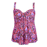 Long Plus Size Swim Top by Mazu, at Swimsuits Just For Us -Front View